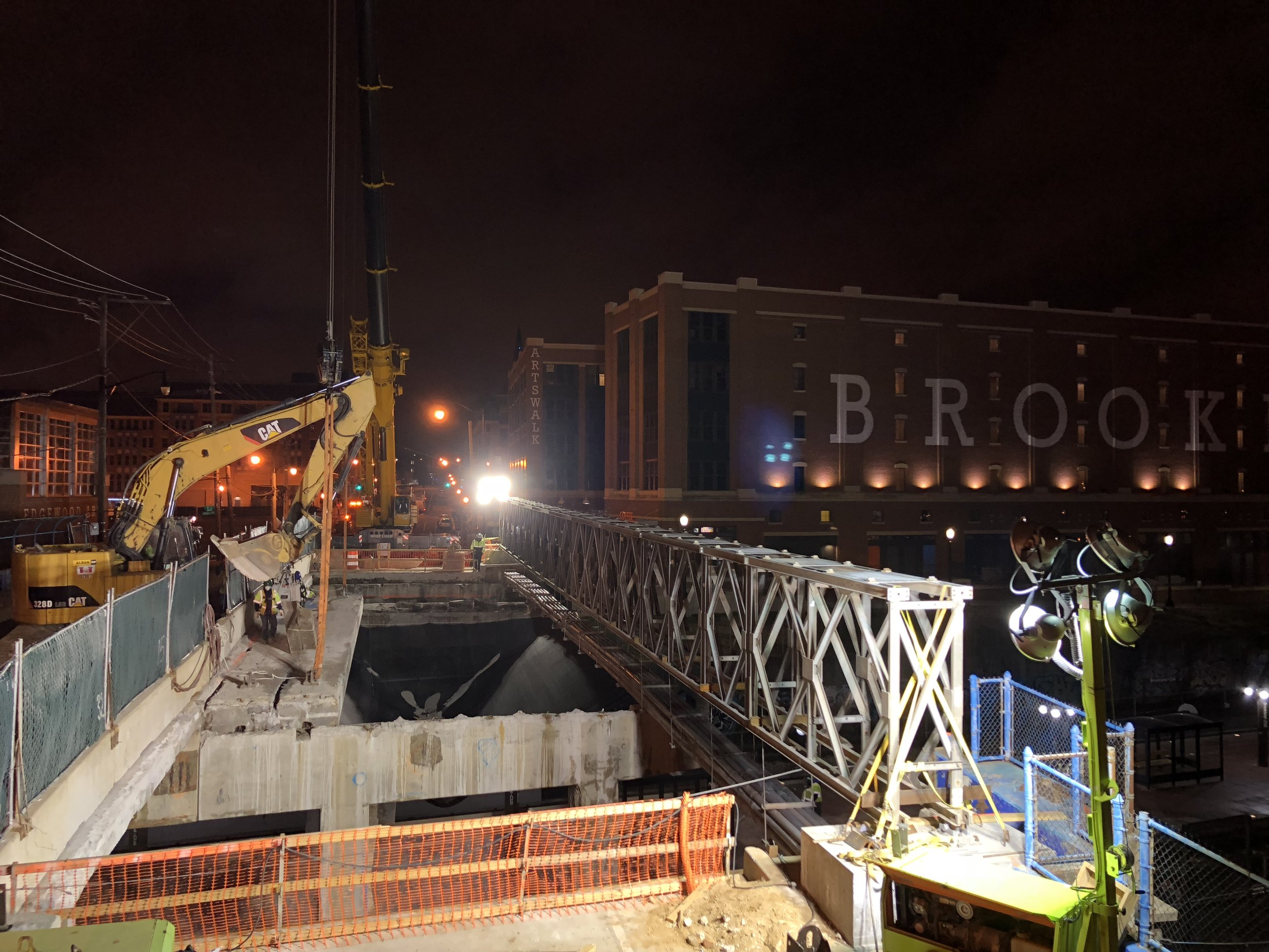 Concrete beam removal over span 2