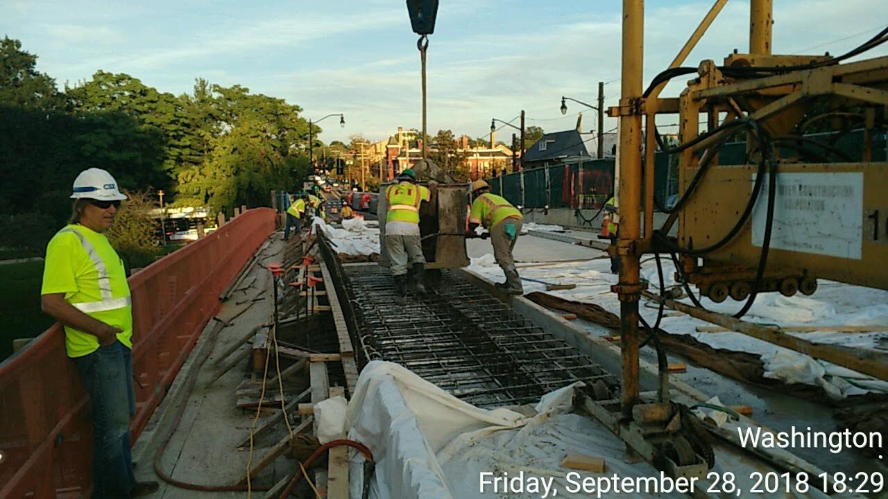 Deck Sidewalk Pour #3 (North)