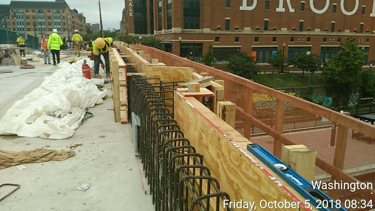 North Side Parapet Formwork & Rebar (Span 1 & 3)