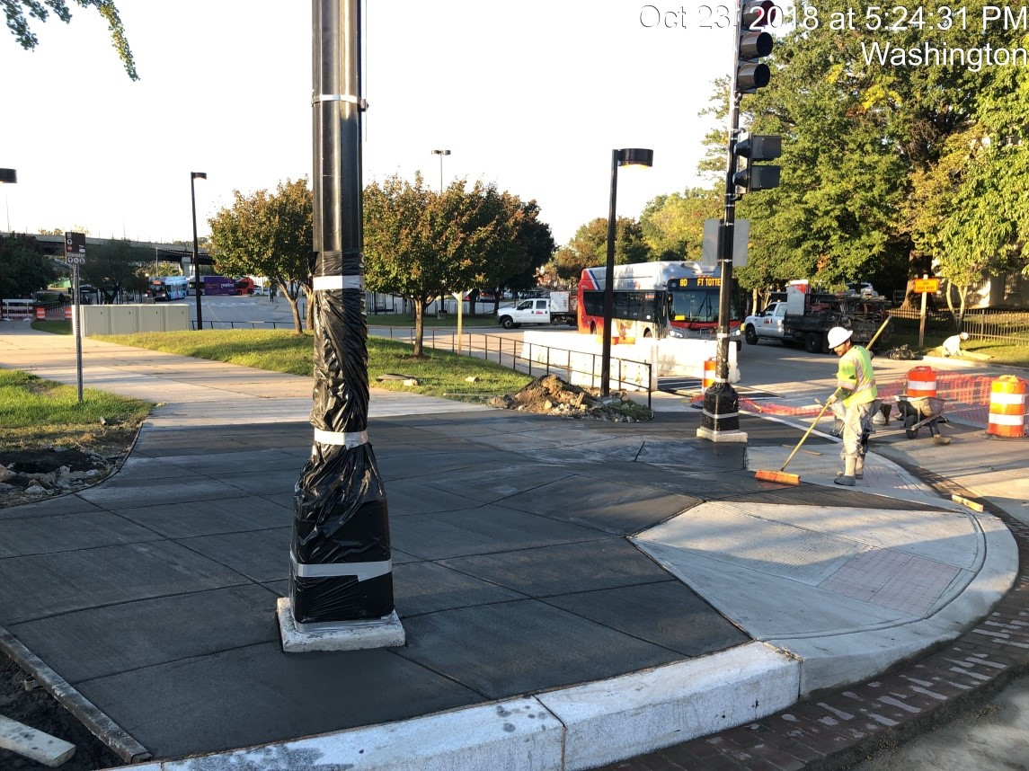 Sidewalk Installation (9th Street-West Side)