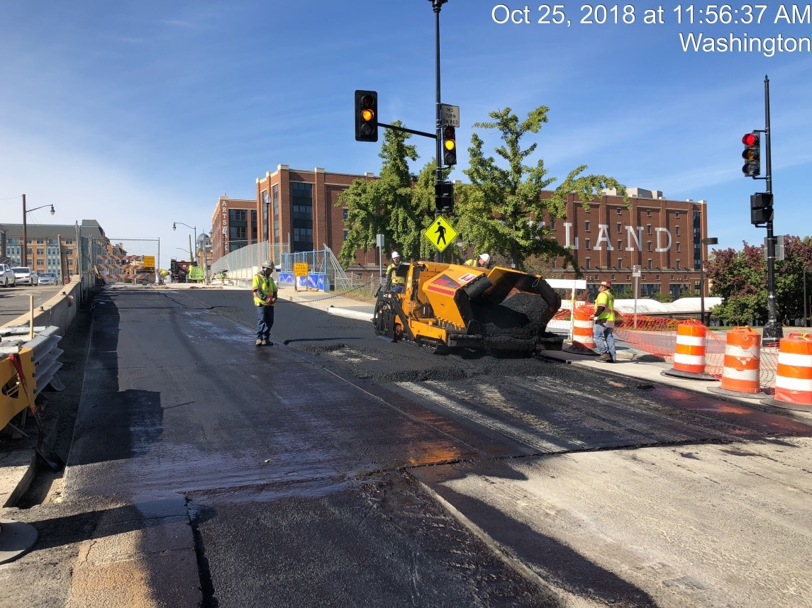 Sidewalk Installation (NW Corner of 9th Street)