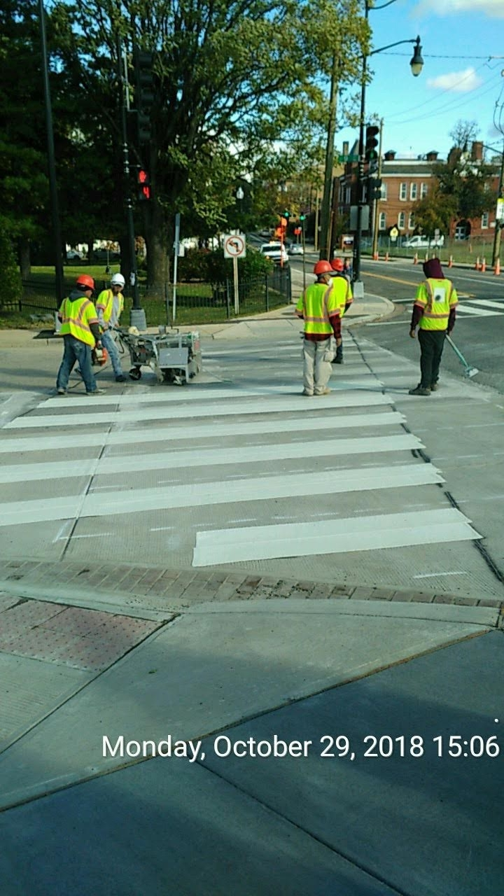 Crosswalk Pavement Marking (9th Street Intersection)
