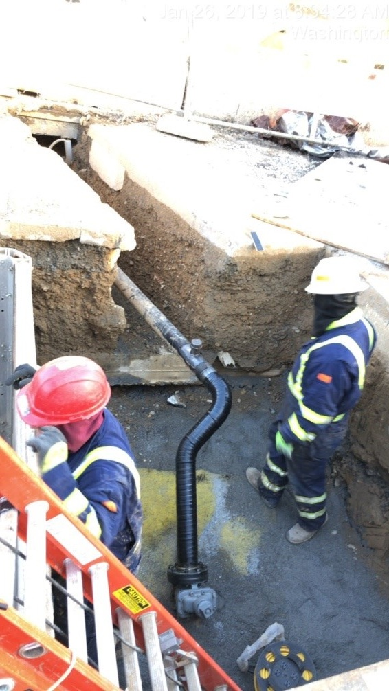 "WGL Ongoing Work - 4"" Bypass Installation and 12"" Main Removal (South Side)"