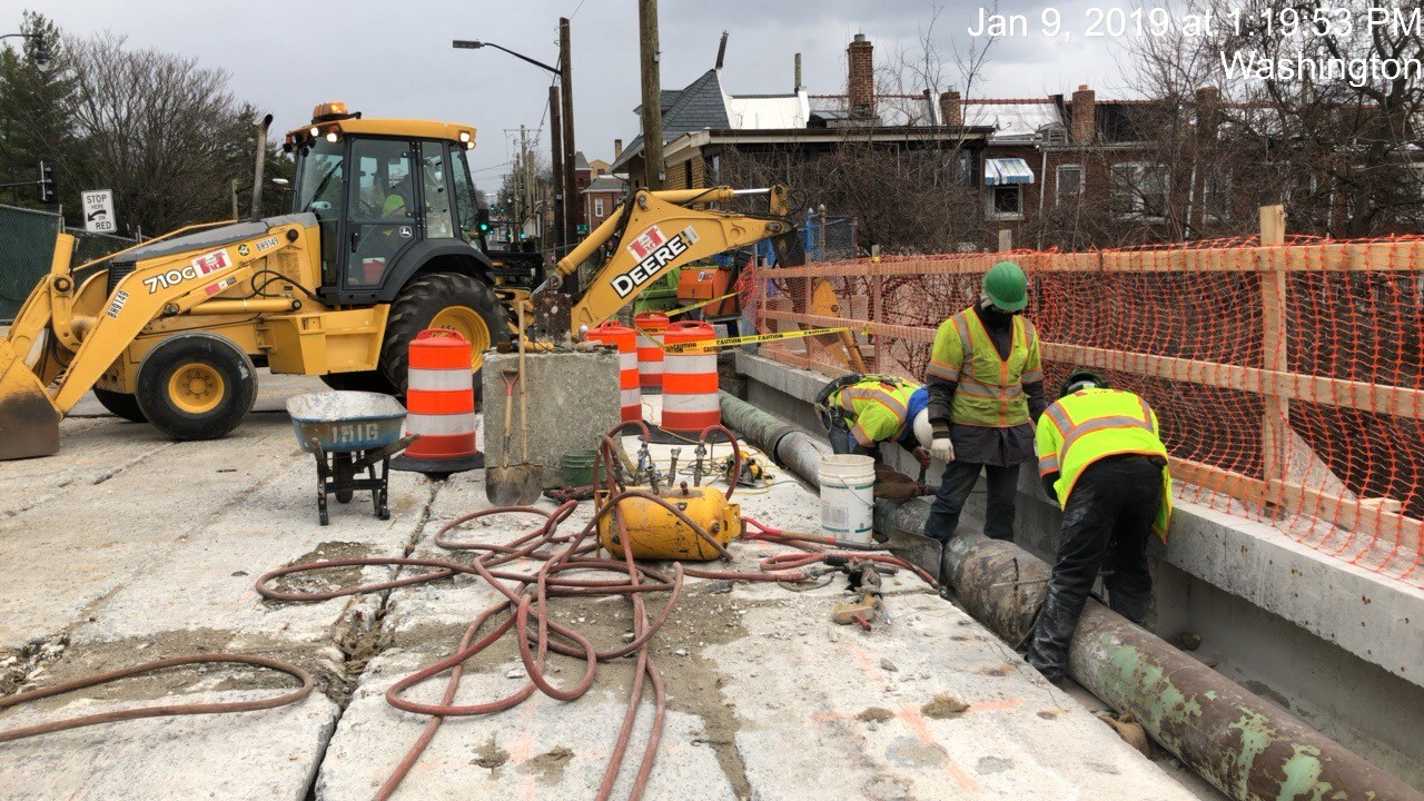 Demolition of PCC Collar aroind Gas Main (South Side)