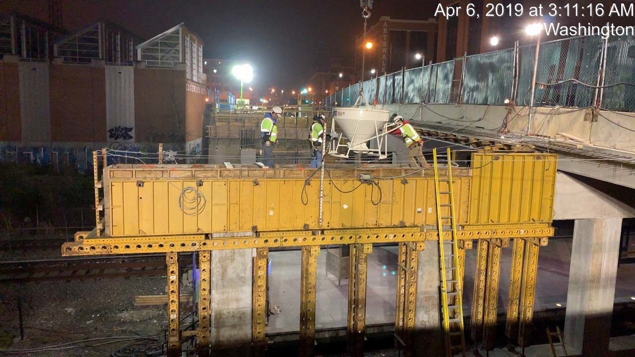 Pier 2 Cap Concrete Placement (Phase 2, South Side)