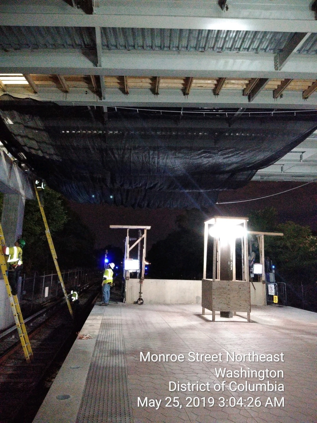 Debris Net Installation at Span 2 WMATA Platform (Phase 2)