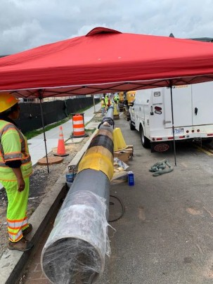 """12"""" Gas main ongoing installation preparation"""