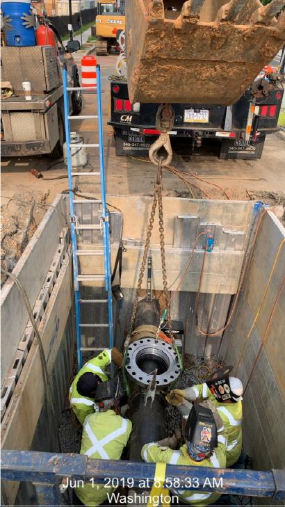 "12"" Gas Main valve installation @ West end Approach"