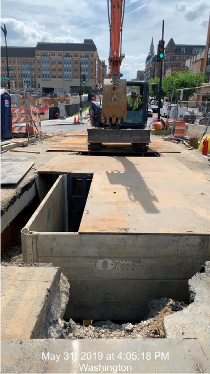 """12"""" Gas Main installation trench @ West end Approach"""