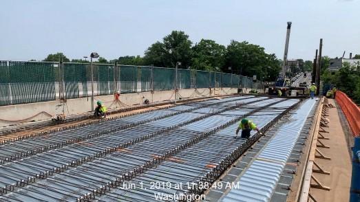 Phase 2 Deck Rebar Installation