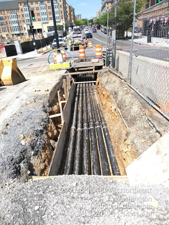 Phase 2: West Side, 6 Way Pepco Conduit installation