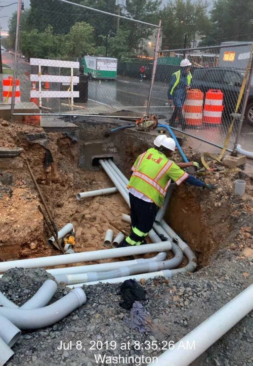 Phase 2: 4-way street light conduit nstallation at 8th St Intersection