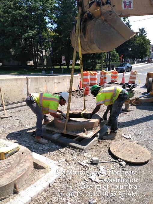 Phase 2: Manhole frame reset, East side of the Bridge
