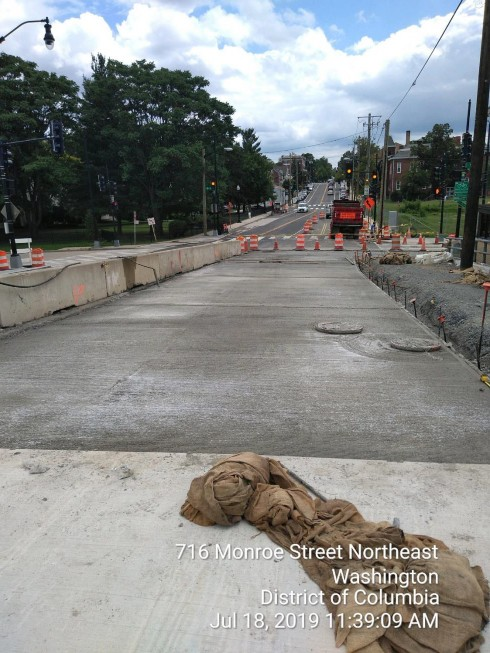 Phase 2: PCC Base Installation, Looking East towards 9th St intersection