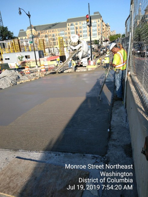 Phase 2: PCC Base Installation, Looking west towards 8th St intersection