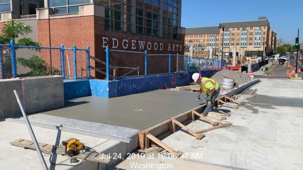 Phase 2 Sidewalk installation. Phase 2
