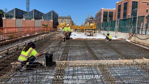 Phase 2: Deck Concrete Placement #2A &2B preparation work