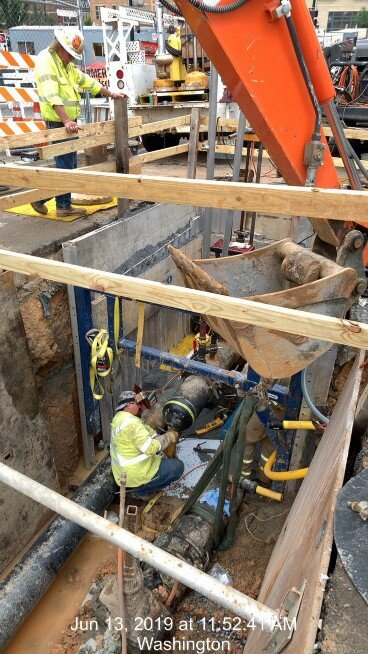 """12"""" Gas Main installation @ East end Approach"""
