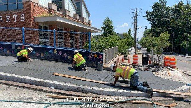 Sidewalk installation Monroe St, Phase 2