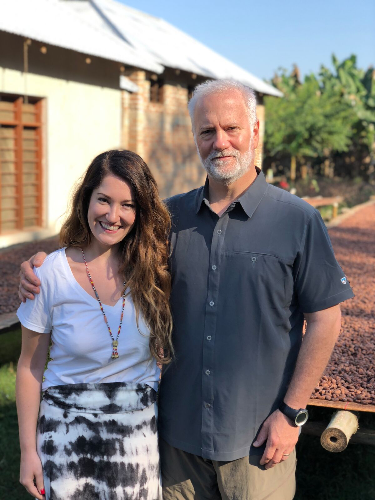 Lawren with her father and business partner Shawn Askinosie. photo credit: Askinosie Chocolate