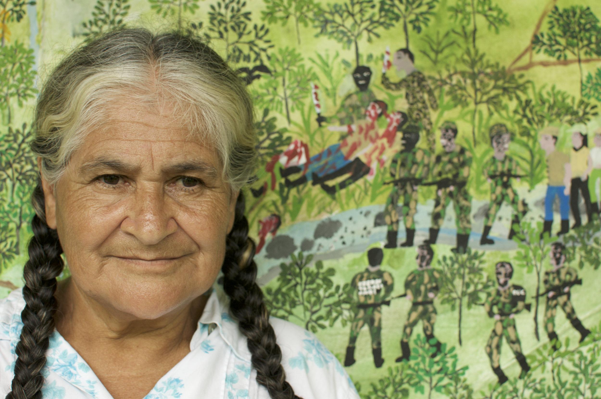 One of the protagonists of the film Doña Brígida González. Photo credit: Pablo Mejía Trujillo