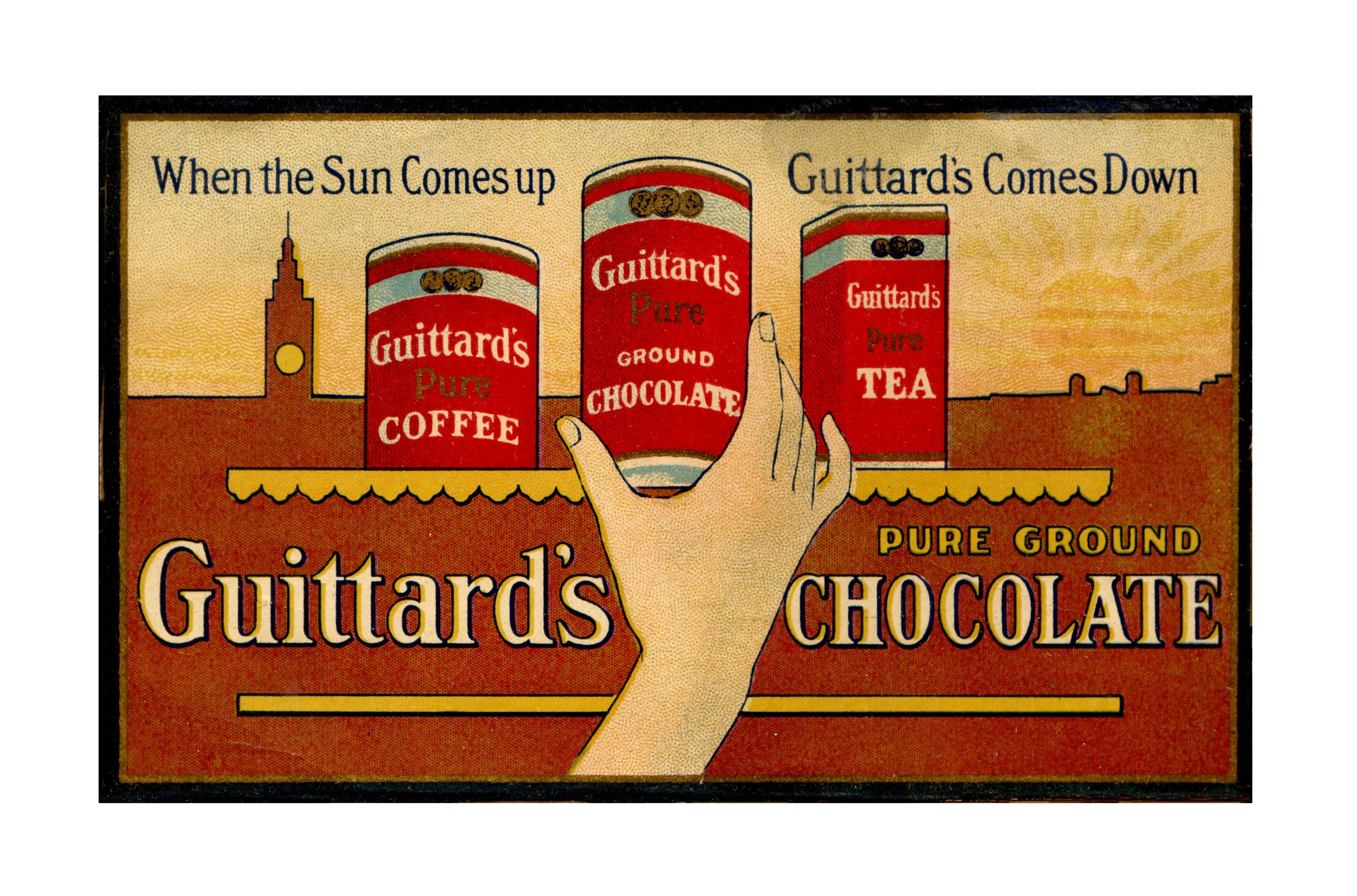 Vintage Guittard advertisement, San Francisco, California. Photo credit: Guittard Chocolate Company