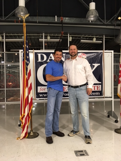 """""""Go get 'em brother. Maryland needs your faith and values."""" - Benghazi hero Kris """"Tanto"""" Paranto, former U.S. Army Ranger , Veteran's Day 2017 fundraiser and endorsement for Dan Cox for Delegate, Brunswick, MD Firehall"""