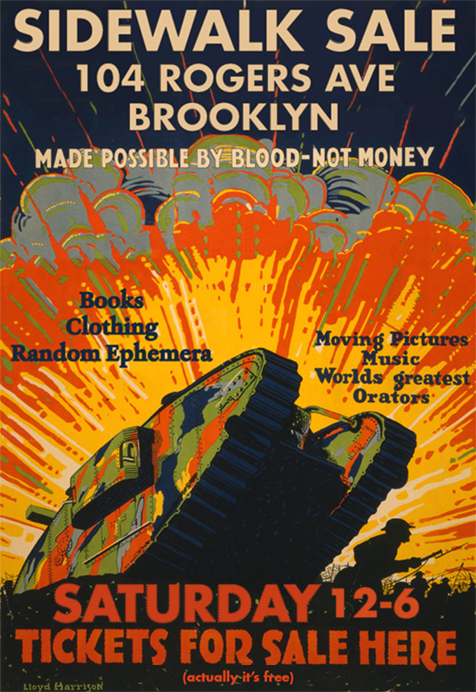 Promotional poster for sidewalk sale