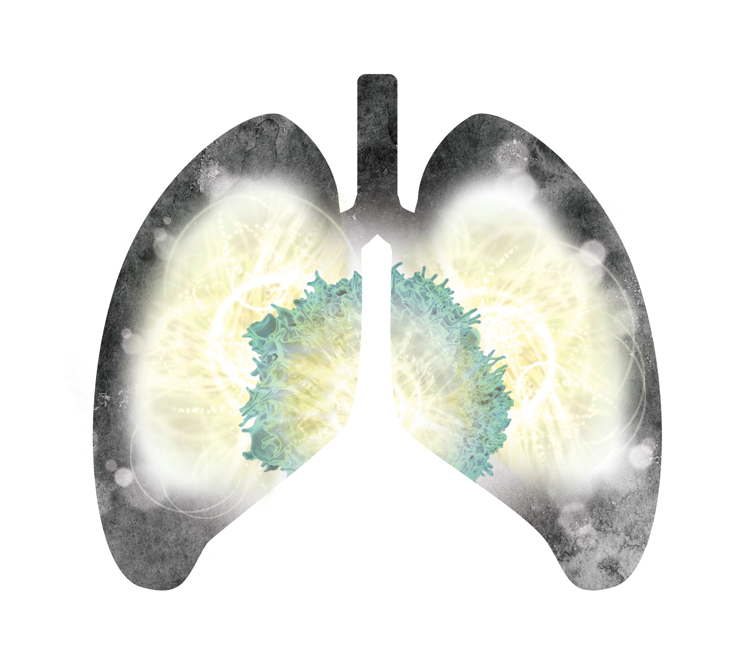 Concept art for a campaign for an immunotherapy drug used to treat lung cancer