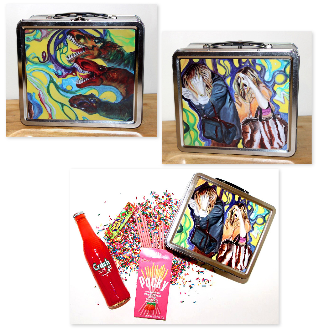 Lunchbox design featuring original art