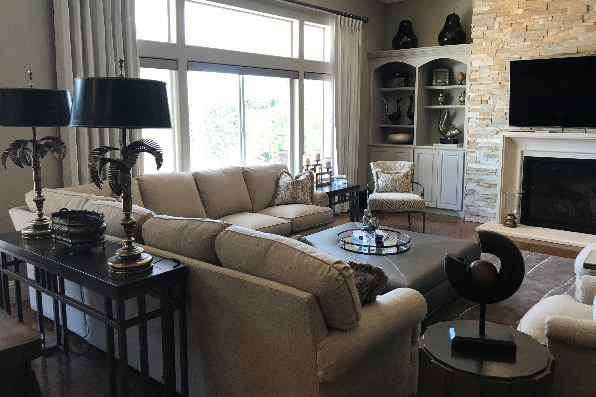 Interior Decorating - Hiring a professional to coordinate color selections, window coverings, furniture, and accessories will help result in a seamless flow from room to room. Our Interior Decorating Team is here to help furnish your existing home, or put the cherry on top of your new Jaureguy's home!