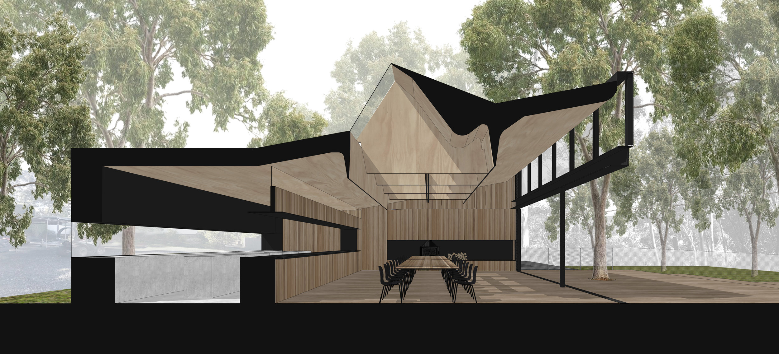 CAROLINE CHISHOLM COLLEGE - GAREMA CAMP A new learning building & masterplan for the school`s regional camp campus in Meredith, Victoria