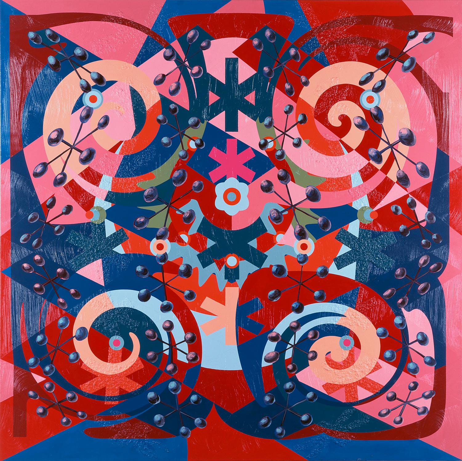 Chow, 1997 acrylic on linen 78 x 78 inches