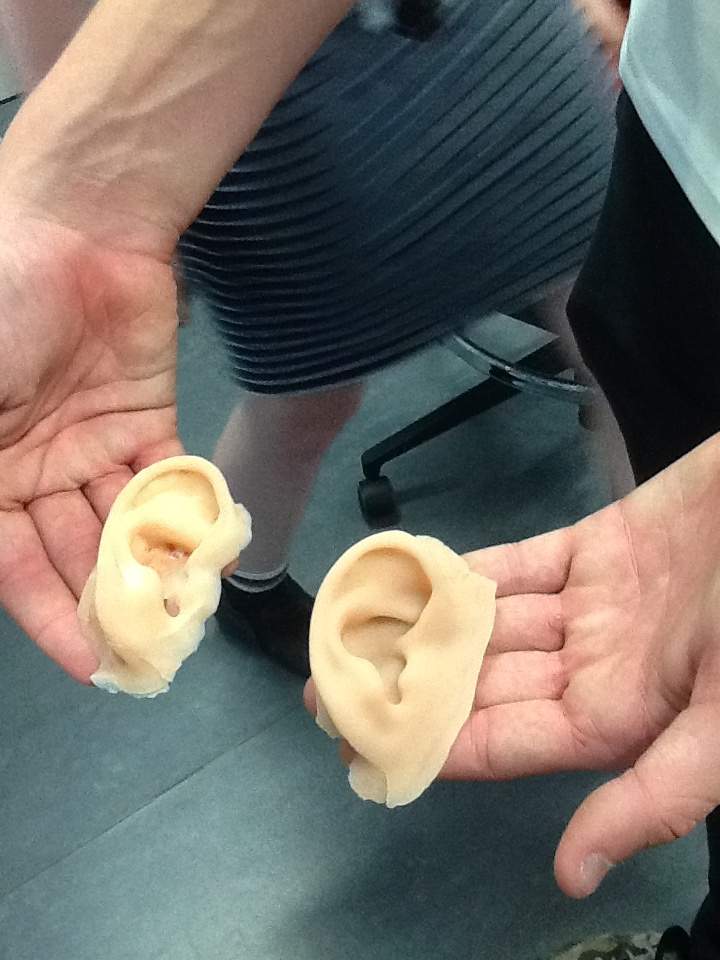 Day 3. The students got to come up to the lab and mould a prosthetic ear from silicone using a 3D printed mould.
