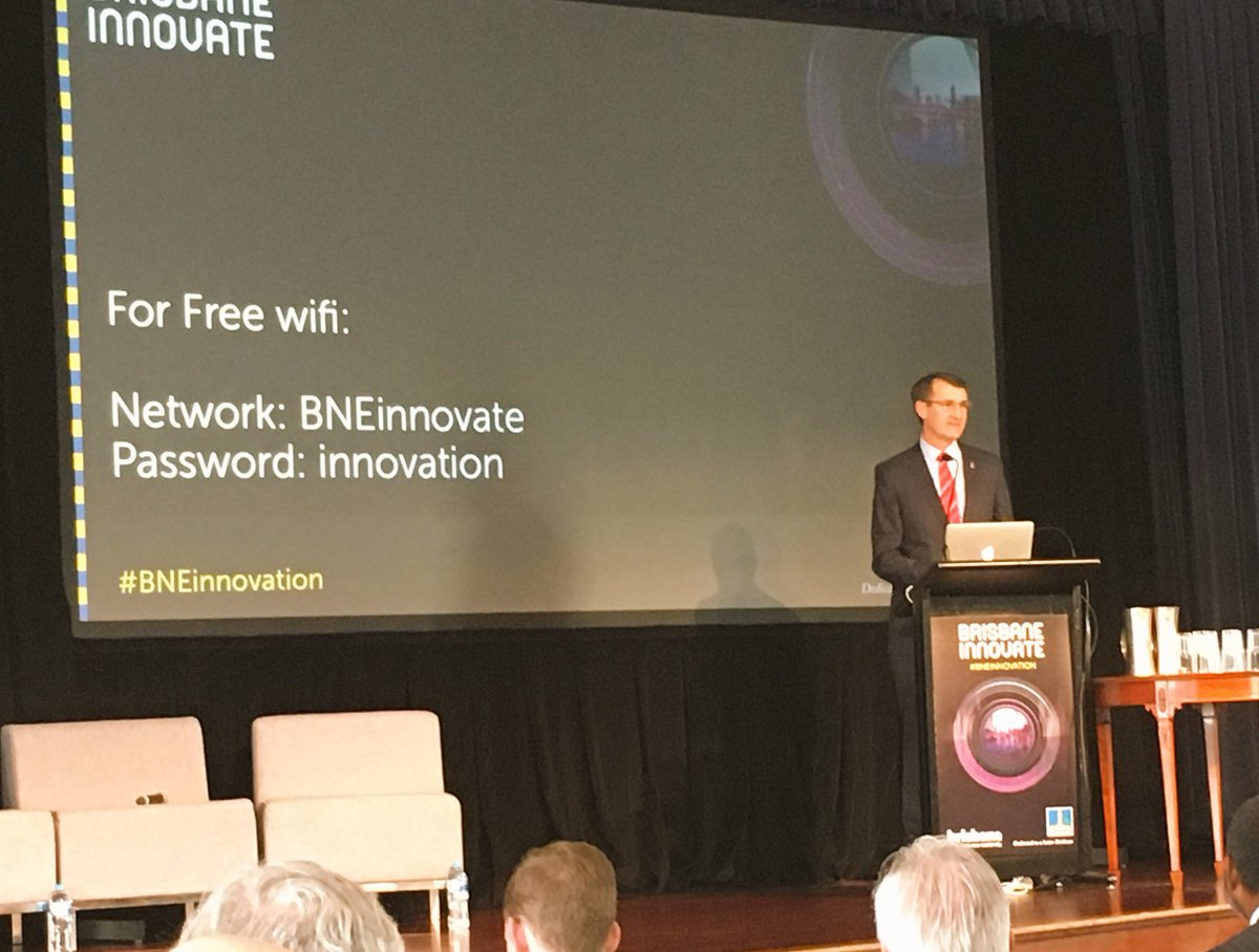 Lord Mayor Graham Quirk opening the Brisbane Innovate Event