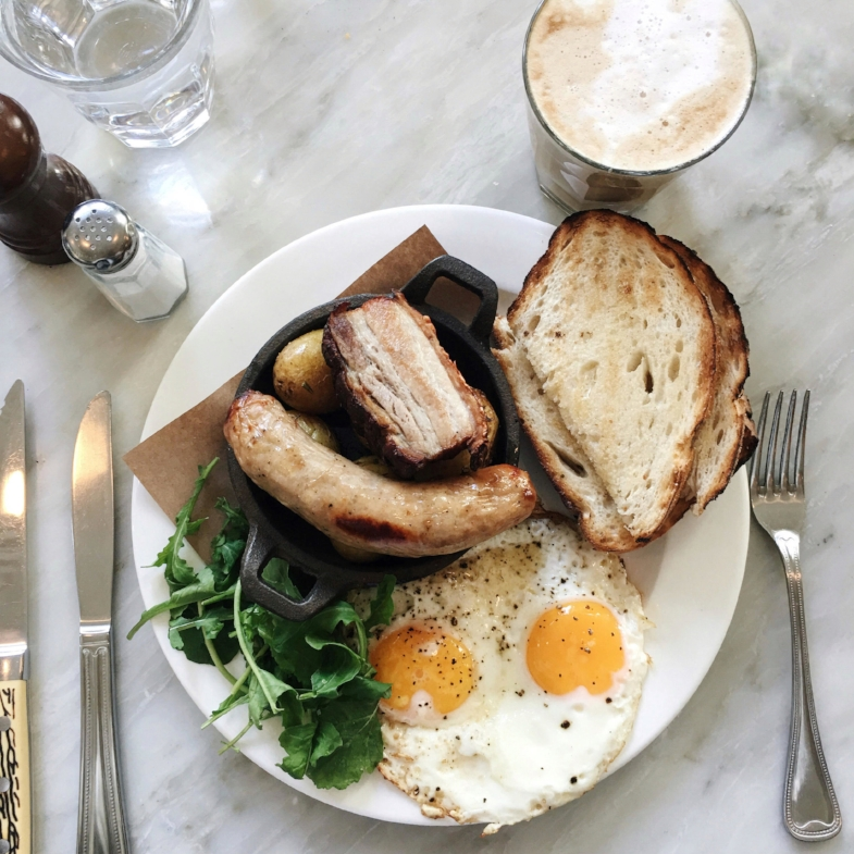 Daily Roast Brunch and Soy Latte from  Homer Street Cafe