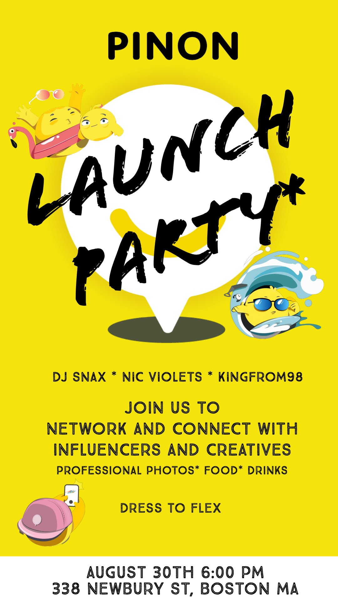 Creative Success - I lead creation direction, including writing and designing the event flyer, overseeing promotional video creation, and leading the interior design of the event space. The flyer was distributed to more than 300 influencers ranging in size from 10K to 600K followers.I acquired the venue booked notable Boston talent: DJ Snax, nic violets and Kingfrom98.