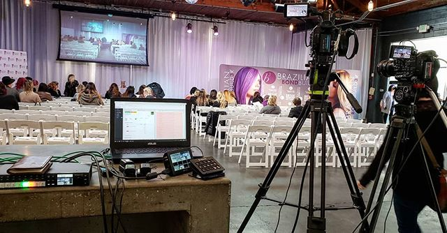 Working today with @salonservicesnw - quite the change from Mike Tyson's festival in California the past few days! Happy Monday! #video #film #work #production #seattle #washington #salon #services #videoproduction