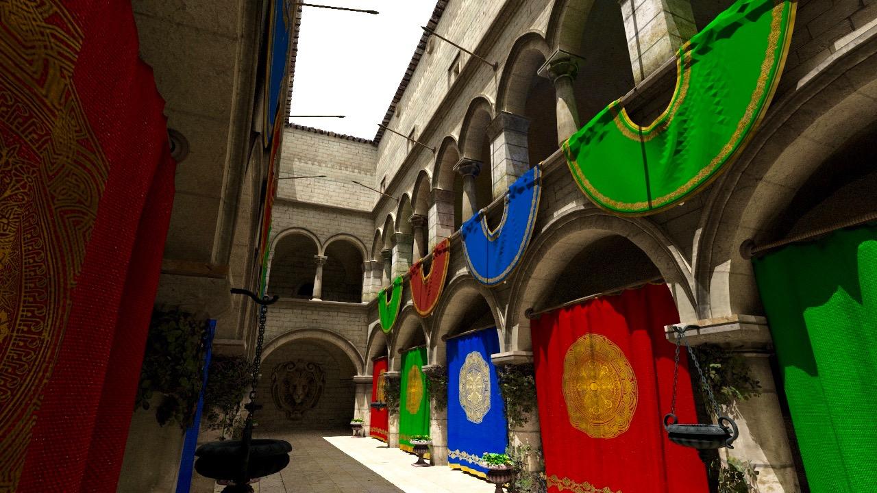 Sponza courtyard.