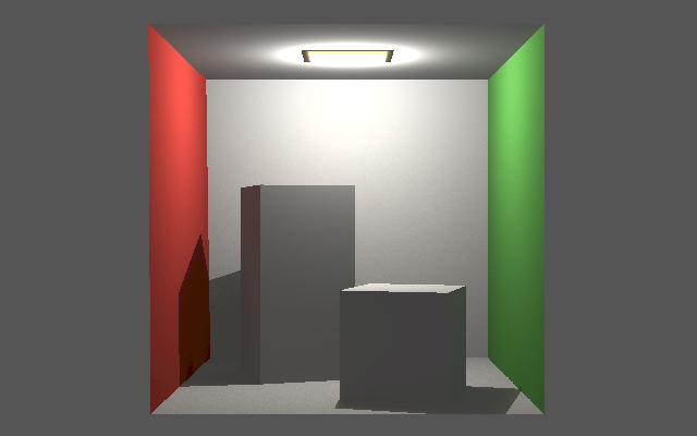 Cornell box with indirect light.