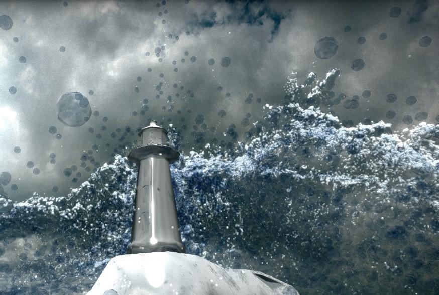 Demonstrating water simulation.