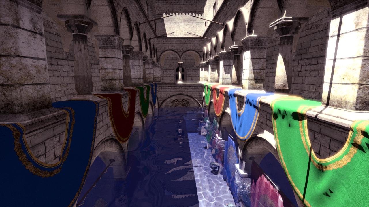 Demonstrating water rendering.
