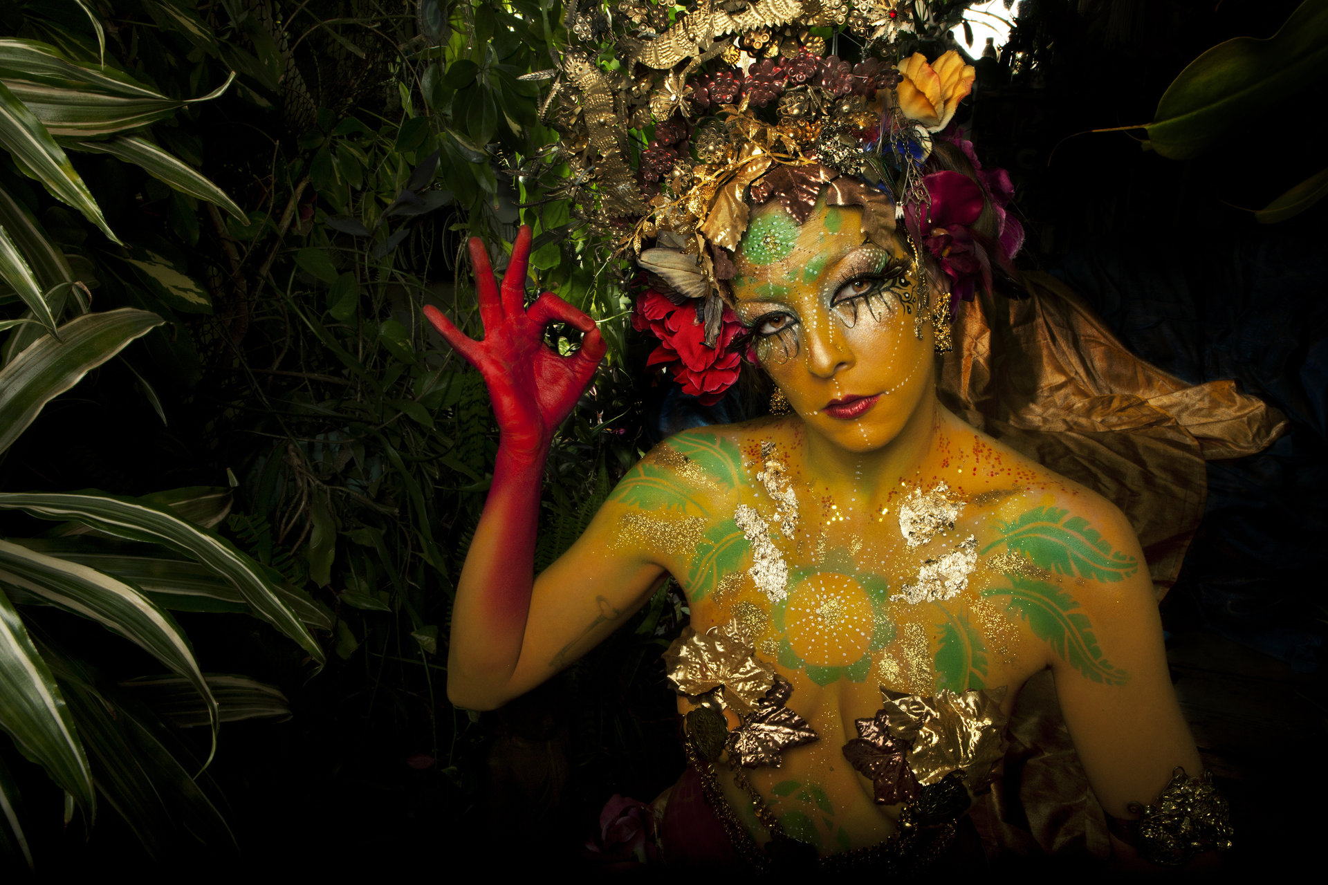 Mythological creatures made in collaboration with body painter  Piyali Banerji   Involvement: Art direction, photography, set design, post production