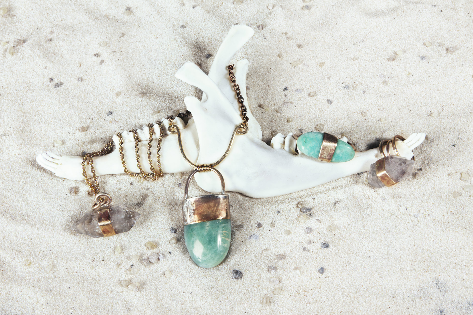 Promotional images for  Miranda Hope Jewelry   Involvement: Concept design, photography, styling, post production