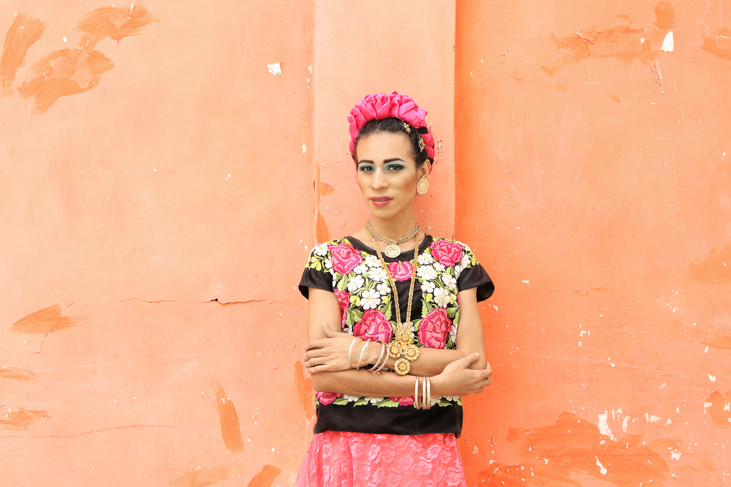 A photo documentary series of Mexico's transgendered Zapotecs  Involvement: Art direction, photography, post production