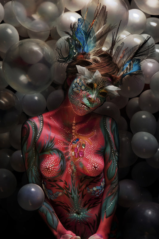 """Fine Art Series  """"Myth""""   Mythological creatures made in collaboration with body painter  Piyali Banerji   Involvement: Art direction, photography, set design, post production"""