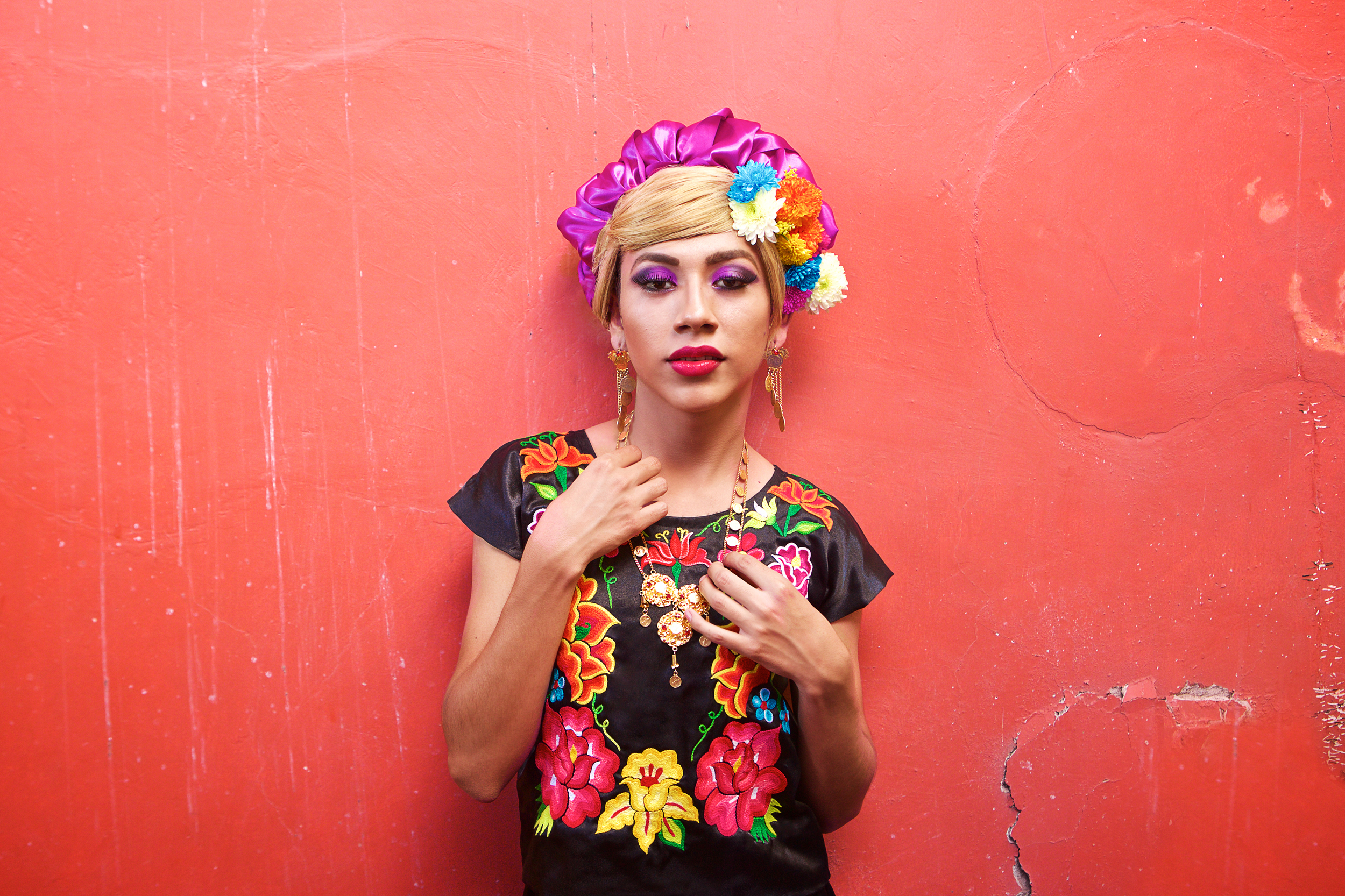 """Fine Art Series  """"Muxhes""""   Photo documentary series of Mexico's transgendered Zapotecs  Involvement: Art direction,photography, post production"""