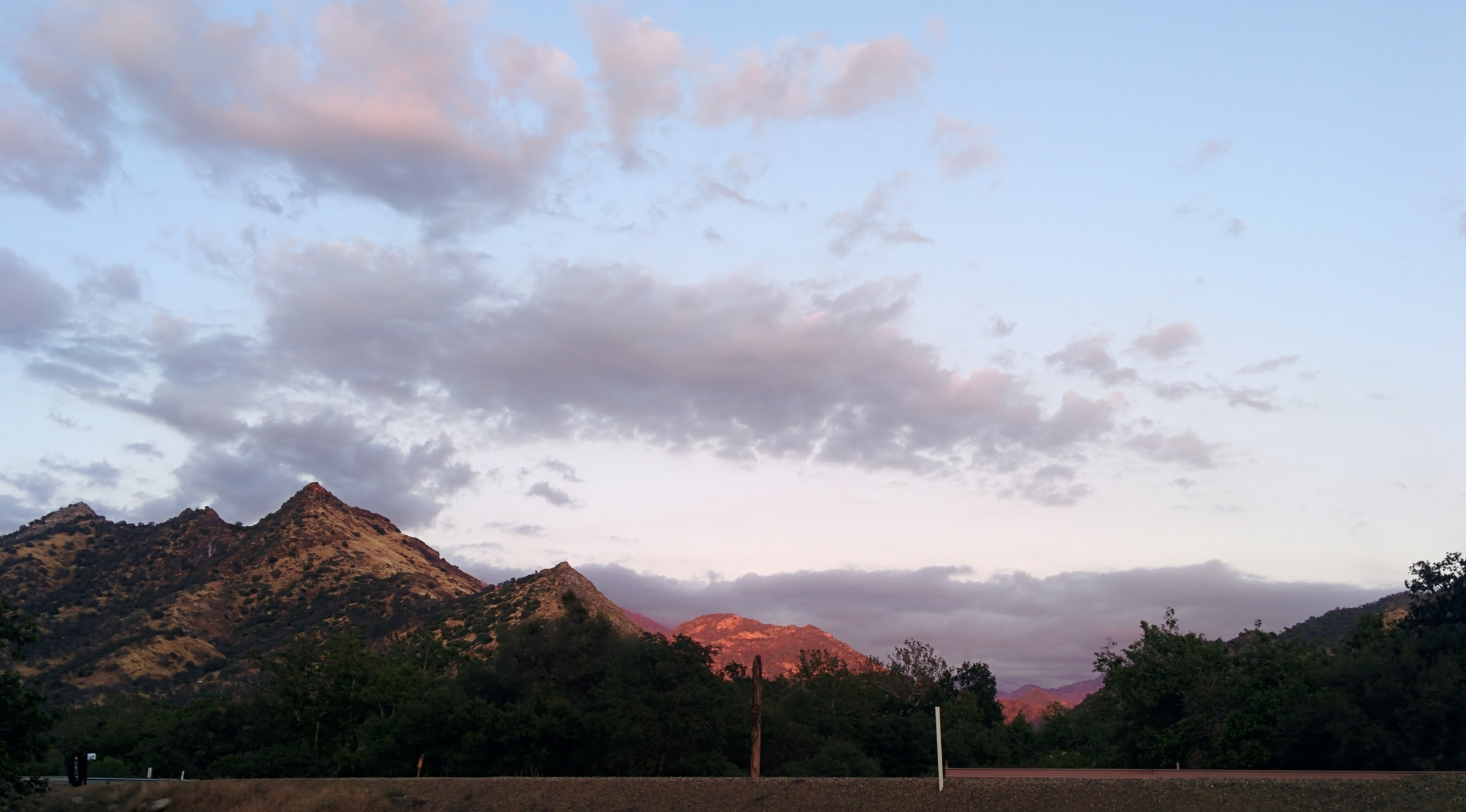 Sunset looking up the South Fork of the Kaweah