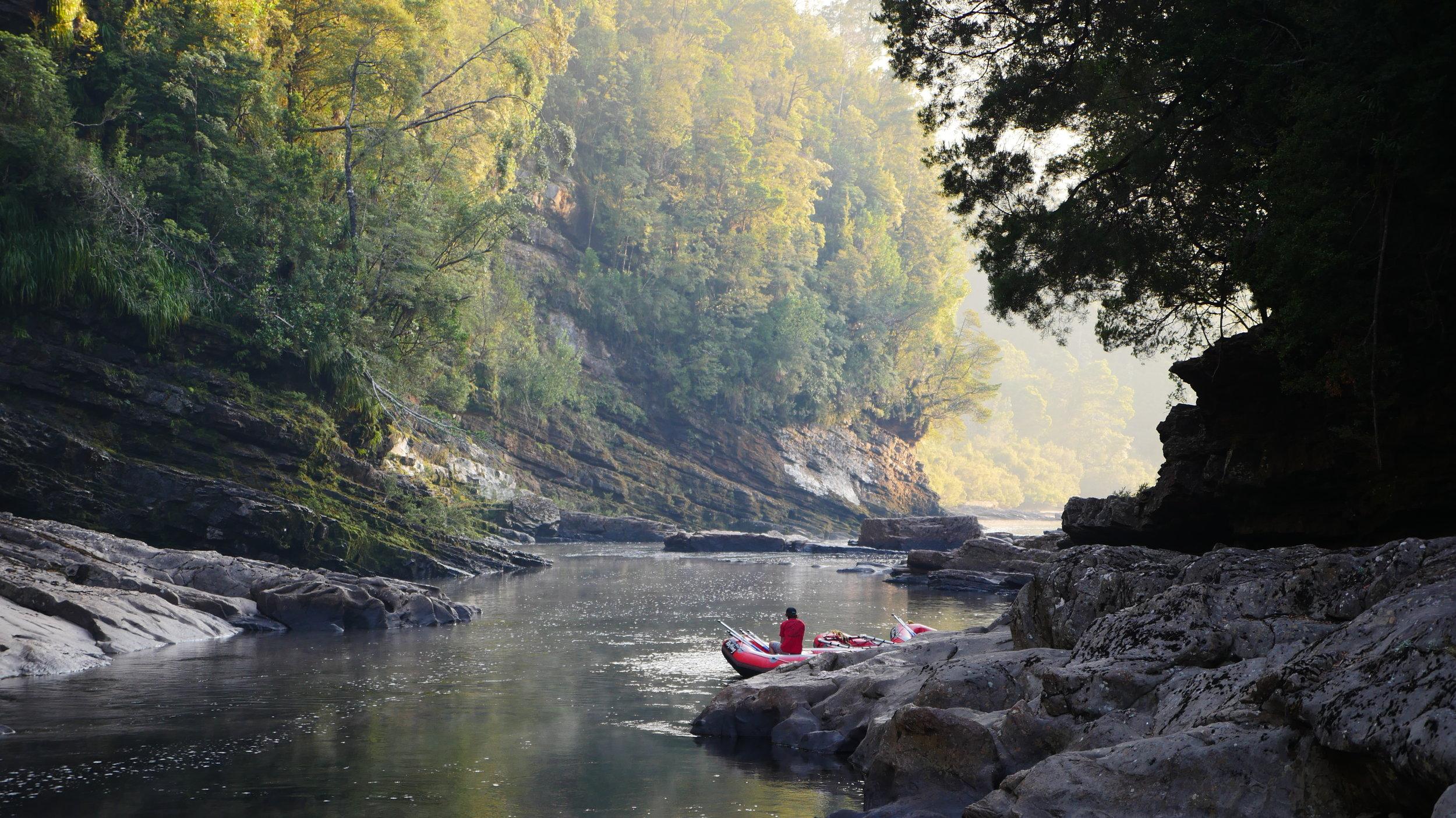Franklin River Rafting, relaxing at camp .JPG