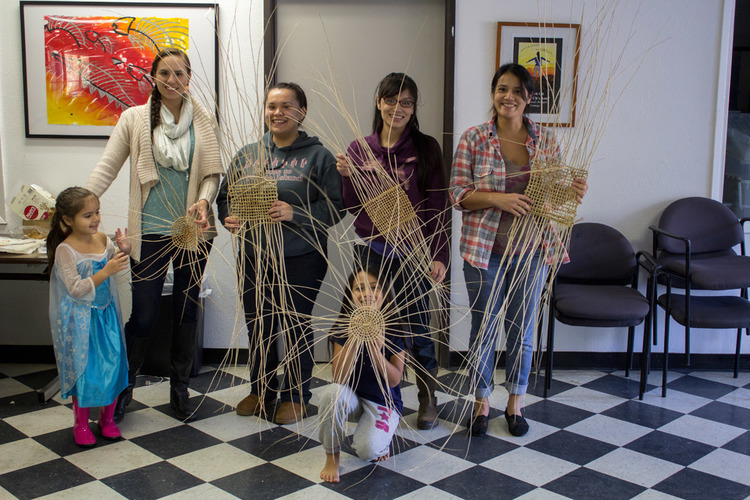 Hupa Basket Weaving